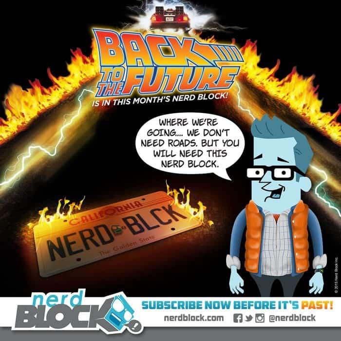 Nerd Block Classic April 2015 Box Spoiler - Back to the Future