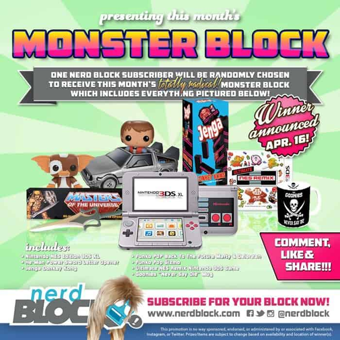 Nerd Block Classic April 2015 Monster Block