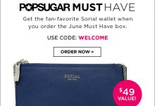 POPSUGAR Must Have June Free Welcome Gif Coupon
