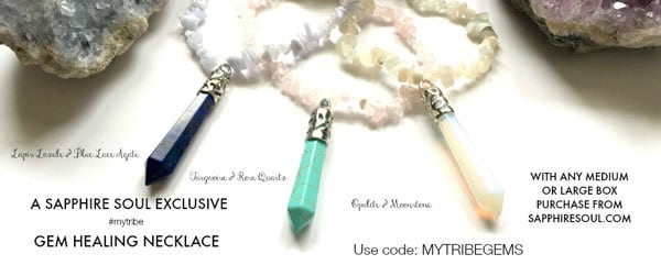 Get a FREE Gem Healing Necklace with New Sapphire Soul Balance Box Subscriptions