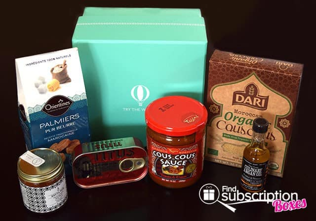 Try The World April 2015 Marrakesh Box Review - Box Contents
