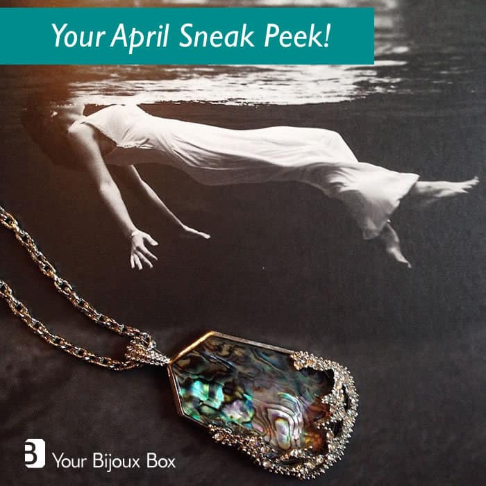 Your Bijoux Box April 2015 Box Spoiler - Aria Abalone Pendant