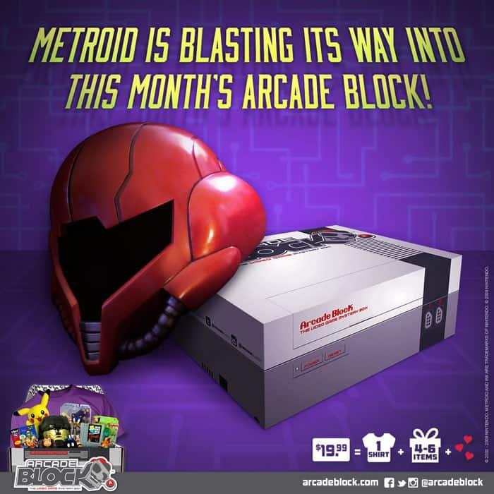Arcade Block June 2015 Box Spoiler - Metroid