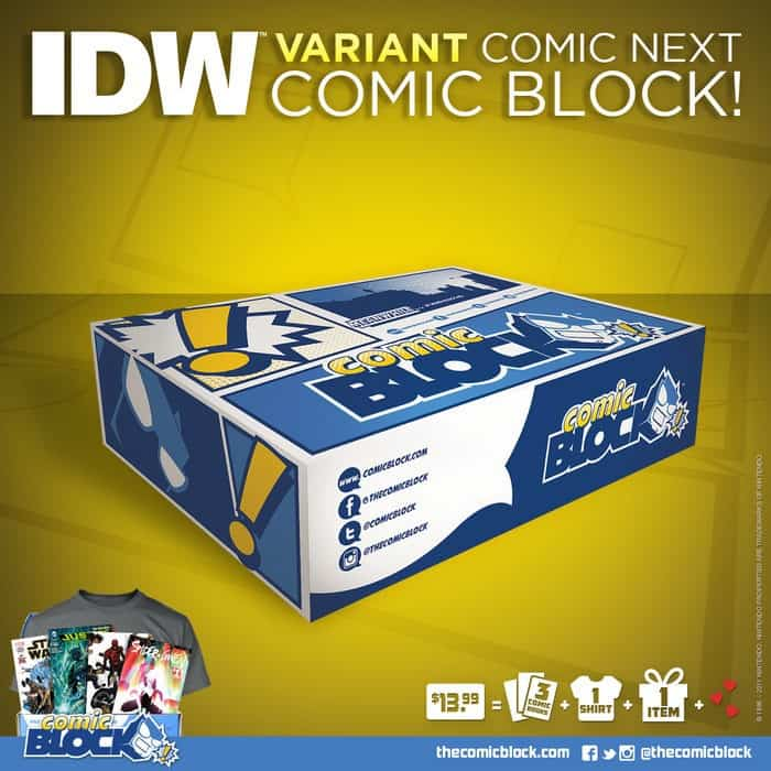 Comic Block June 2015 Box Spoiler - IDW Variant Cover