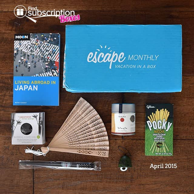 Escape Monthly April 2015 Japan Box Review - Box Contents