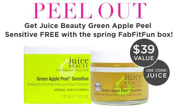 FabFitFun FREE Juice Beauty Green Apple Peel