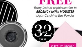 FREE Ardency Inn MODSTER Eye Powder with New GLOSSYBOX Subscriptions with Code EYEPOWDER