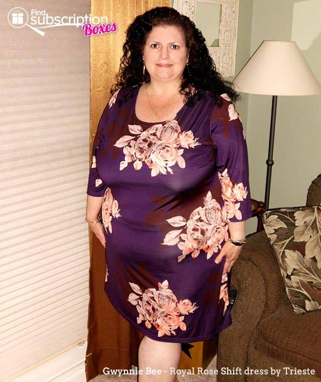 Gwynnie Bee May 2015 Style Review - Trieste Royal Rose Dress