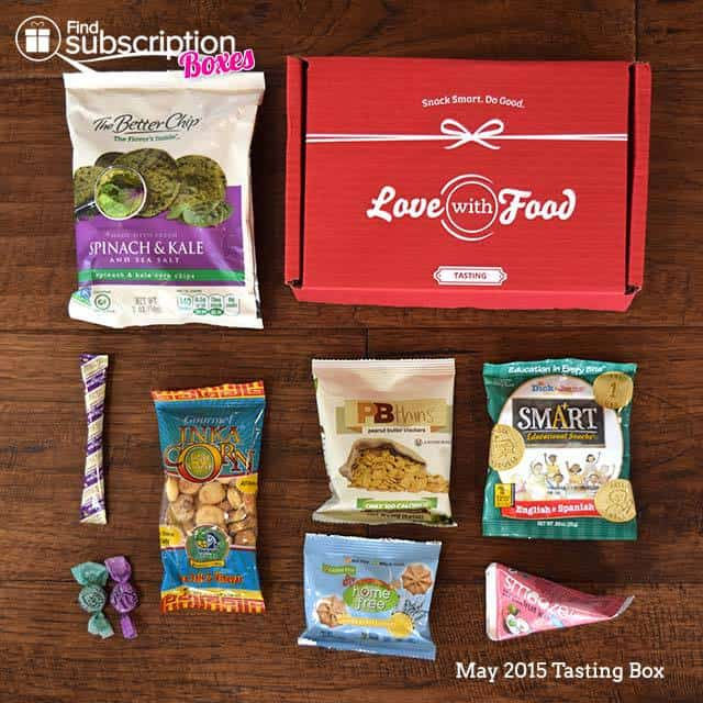 Love With Food May 2015 Tasting Box Review - Box Contents