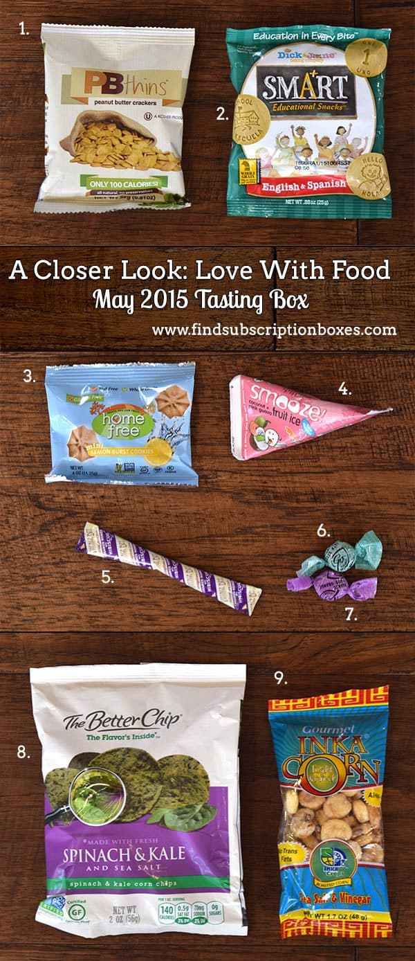 Love With Food May 2015 Tasting Box Review - Inside the Box