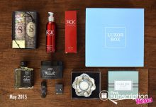 Luxor Box May 2015 Box Review - Box Contents
