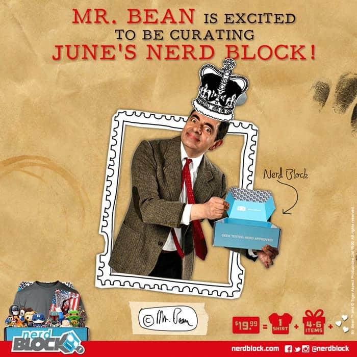 Nerd Block June 2015 Box Spoiler & Curator - Mr. Bean