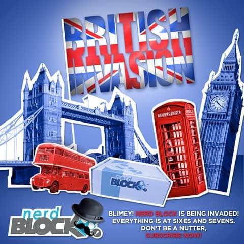 Nerd Block June 2015 Classic Block Theme - British Invasion