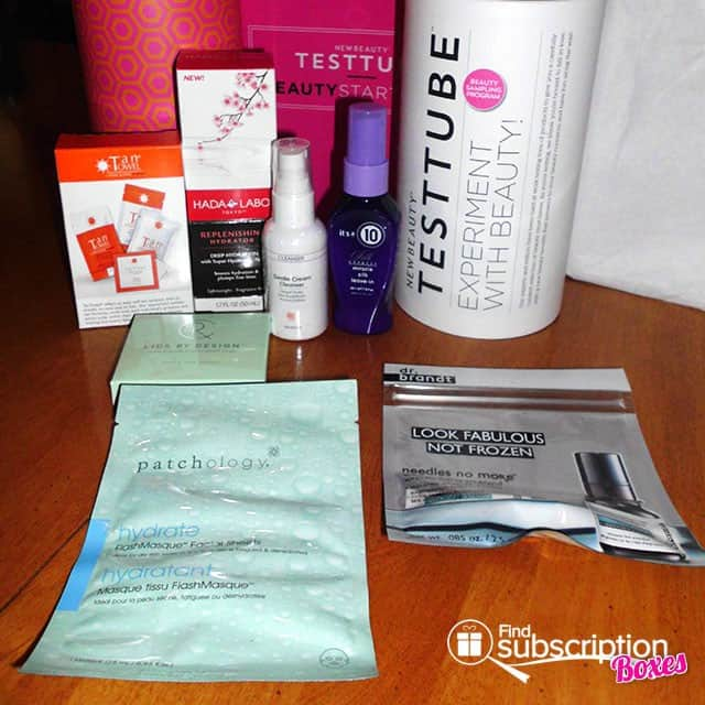 NewBeauty TESTTUBE May 2015 Box Review - Box Contents