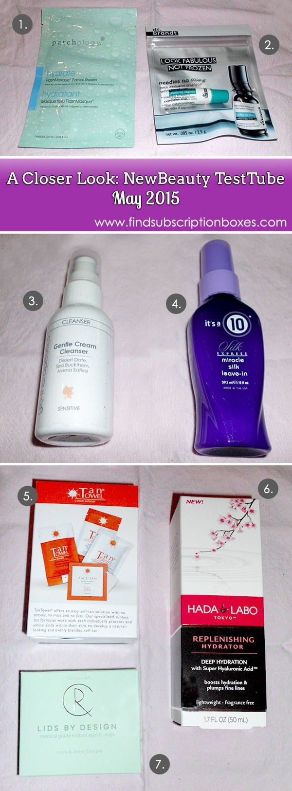 NewBeauty TestTube May 2015 Box Review - Inside the Box