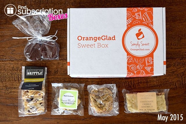 Orange Glad May 2015 Sweet Box Review - Box Contents