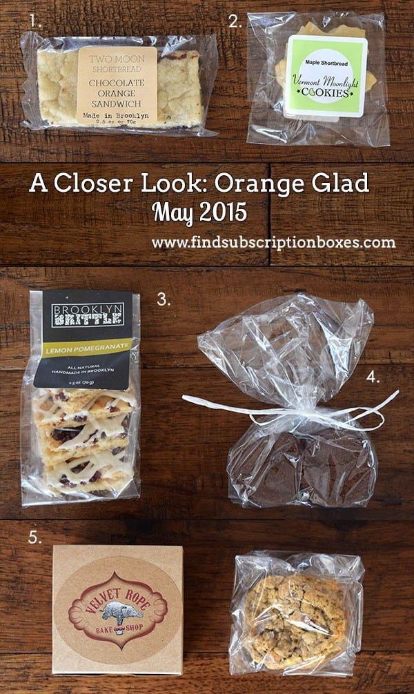 Orange Glad May 2015 Sweet Box Review - Inside the Box
