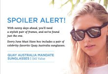 POPSUGAR Must Have Box June 2015 Box Spoiler - Quay Australia Sunglasses