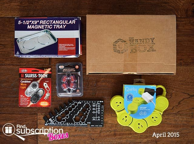 The Handy Box April 2015 Box Review - Box Contents