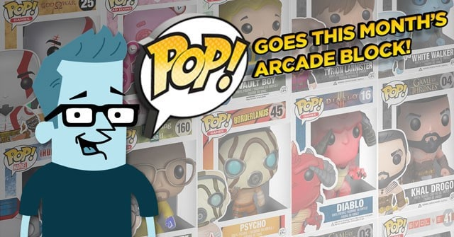 Arcade Block Jluly 2015 Box Spoiler - Funko Pop!