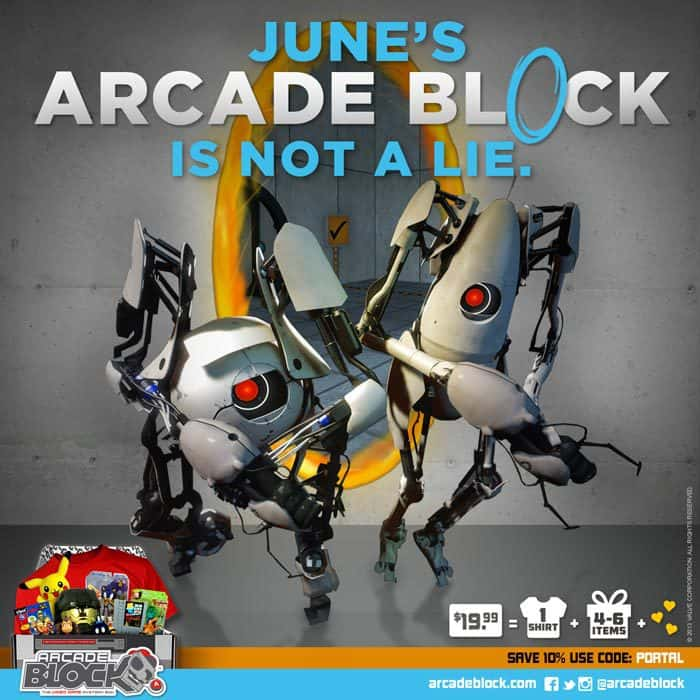 Arcade Block June 2015 Box Spoiler - Portal 2