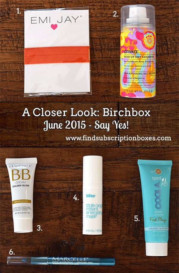 Birchbox June 2015 Say Yes! Box REview - Inside the Box