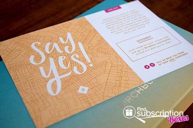 Birchbox June 2015 Say Yes! Box REview - Product Card