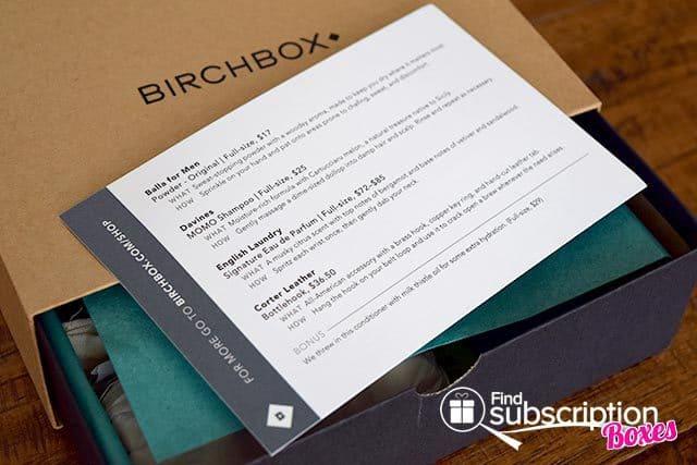 Birchbox Man June 2015 Box Review - Product Card