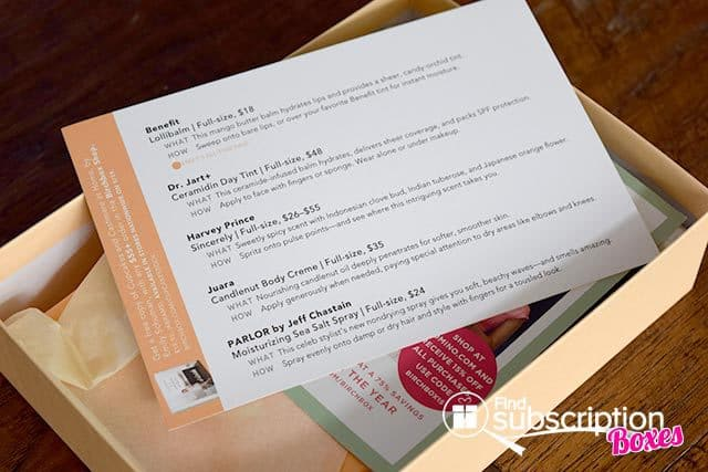 Birchbox May 2015 Cupcakes and Cashmere Box Review - Product Card