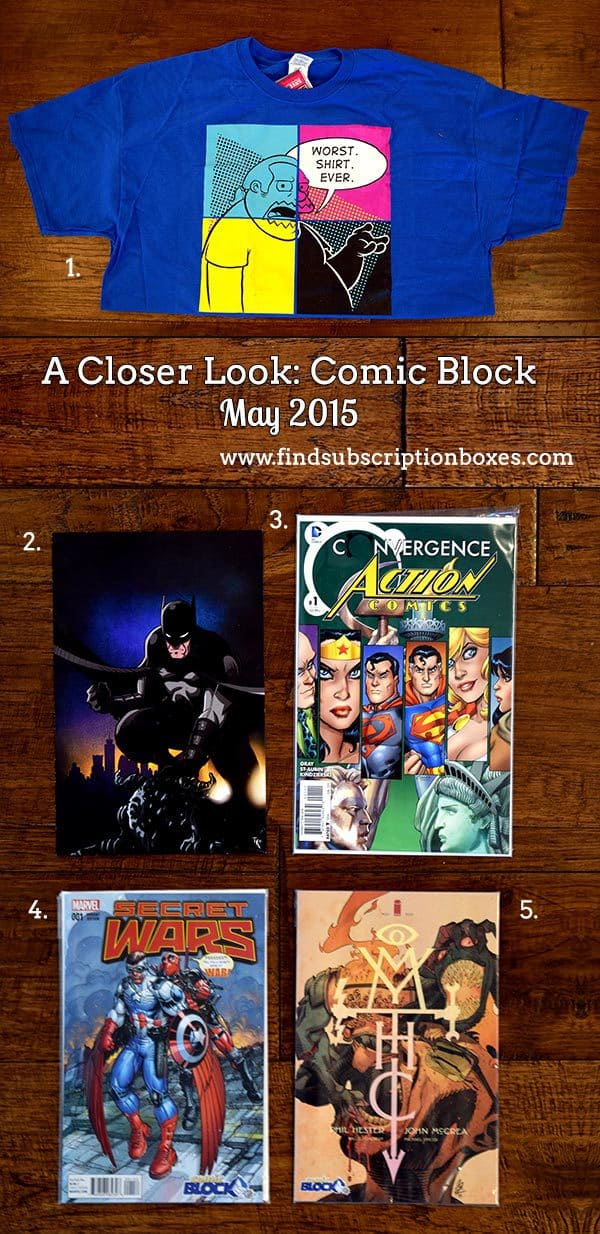Comic Block May 2015 Box Review - Inside the Box