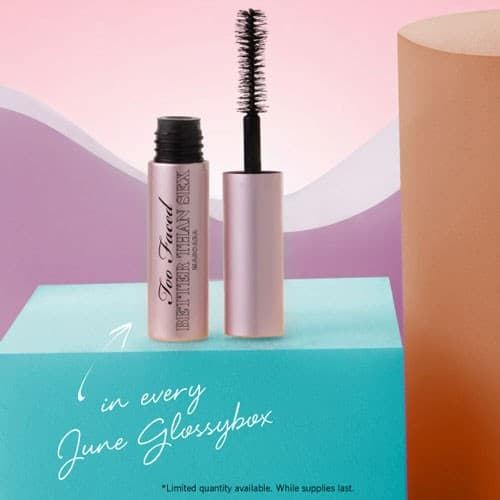 GLOSSYBOX June 2015 Box Spoiler - Too Faced Cosmetics Better than Sex Mascara