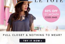 LE TOTE 50% Off 1st Month