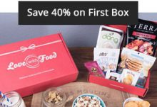 Save 40% Off your 1st Love With Food Tasting Box