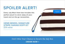 POPSUGAR July 2015 Must Have Box Spoiler - Henri Bendel Dopp Kit