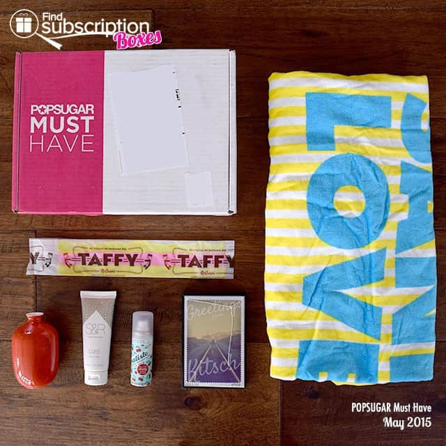 POPSUGAR May 2015 Must Have Box - Box Contents