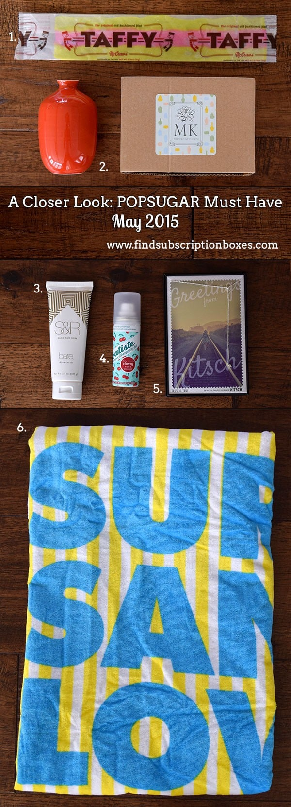 POPSUGAR May 2015 Must Have Box - Inside the Box