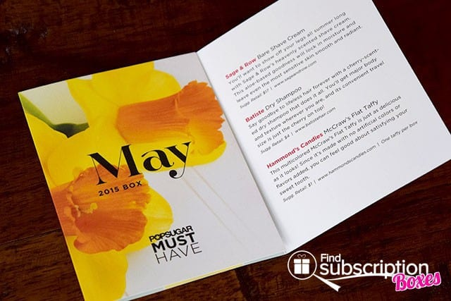 POPSUGAR May 2015 Must Have Box - Product Card