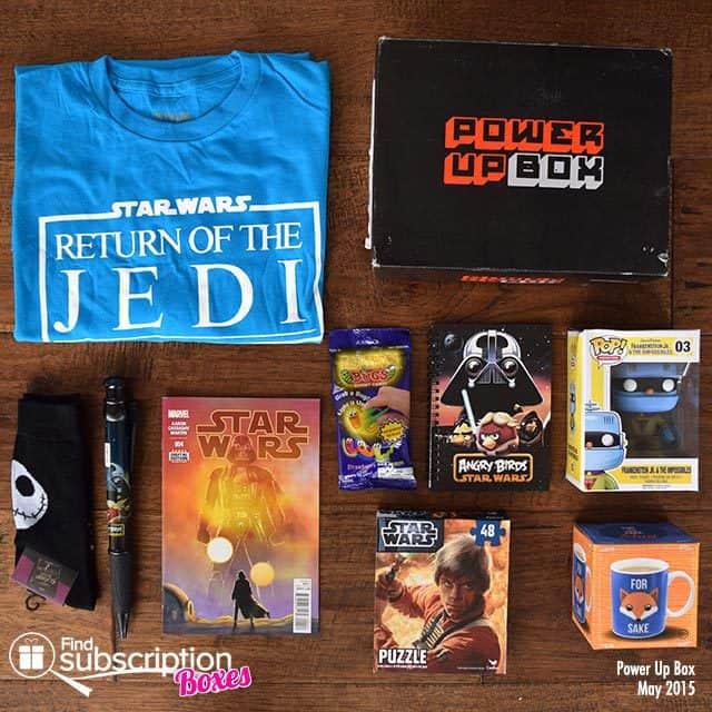 Power Up Box May 2015 Box Review - Box Contents