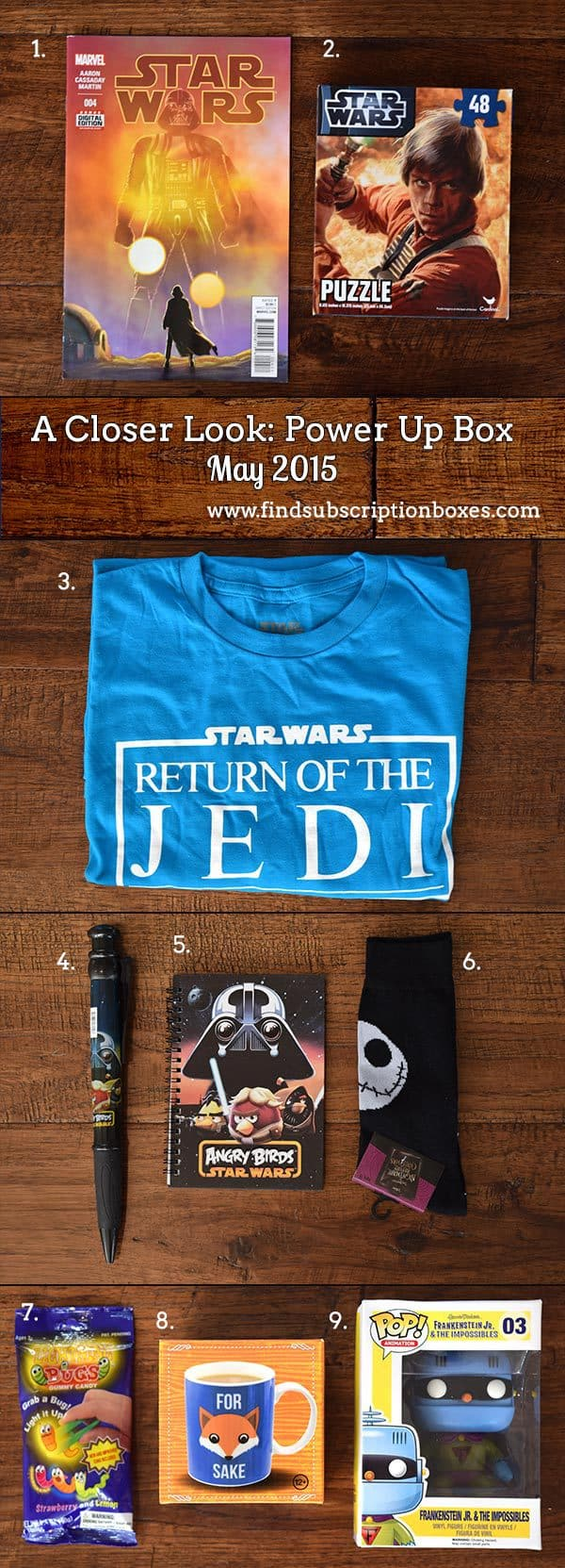Power Up Box May 2015 Box Review - Inside the Box