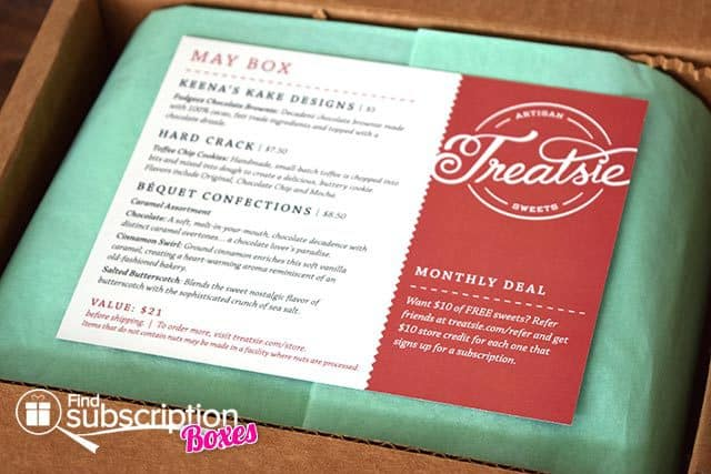 Treatsie May 2015 Box Review - Product Card