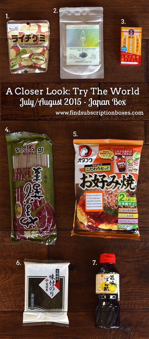 Try The World July/August Japan Box Review - Inside the Box