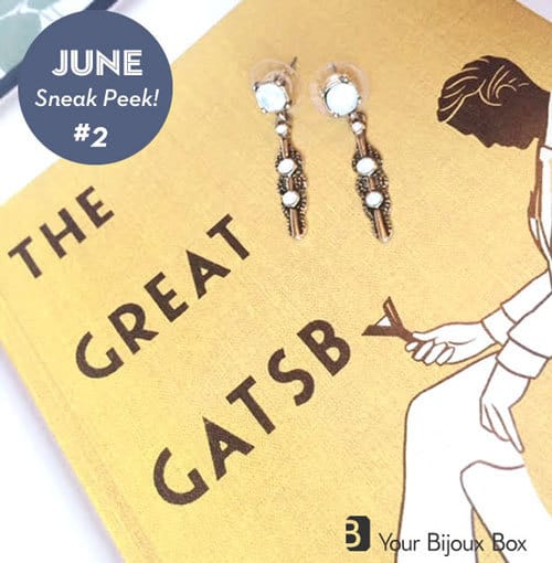 Your Bijoux Box June 2015 Box Spoilers - Deco Opal Drop Earrings