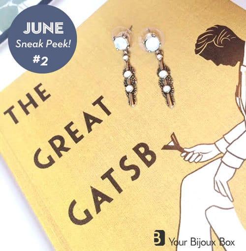 Your Bijoux Box June 2015 Box Spoilers - Deco Opal Drop Earrings