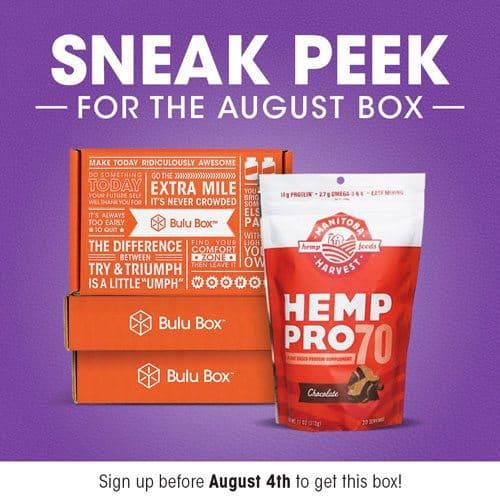 Bulu Box August 2015 Box Spoiler - Hemp Pro 70