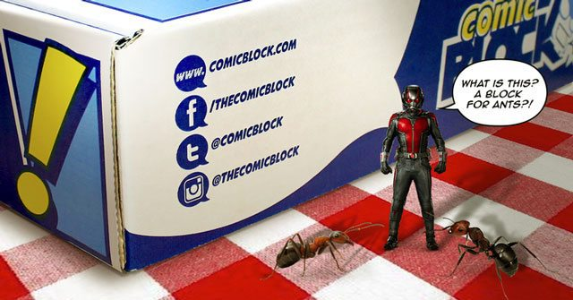 Comic Block July 2015 Box Spoiler - Ant-Man