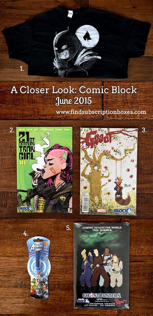 Comic Block June 2015 Box Review - Inside the Box
