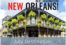 Escape Monthly July 2015 Destination Reveal - New Orleans