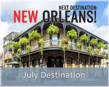 Escape Monthly July 2015 Destination Reveal - New Orleans
