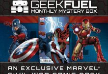 Geek Fuel July 2015 Box Spoiler - Cival War Comic Book