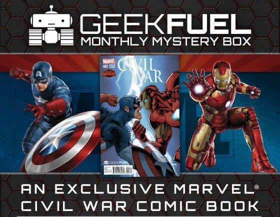 Geek Fuel July 2015 Box Spoiler - Cival War Comic Book